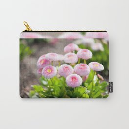 Bellis perennis pomponette flowers Carry-All Pouch