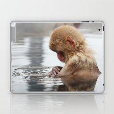 Bath time. Snow Monkey, Japan Laptop & iPad Skin