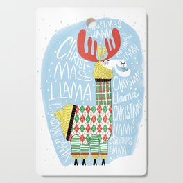 Christmas Llama Cutting Board