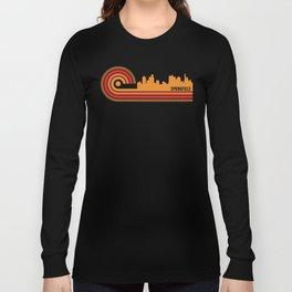 Retro Style Springfield Illinois Skyline Long Sleeve T-shirt