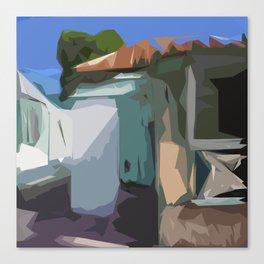 ST. Maarten Color Block House  Canvas Print