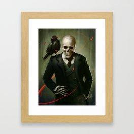 Skully Gentleman Framed Art Print
