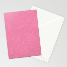 Girly trendy fuschia pink elegant floral french lace Stationery Cards