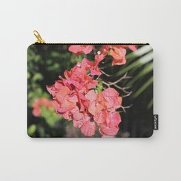Hot Coral Floral Carry-All Pouch