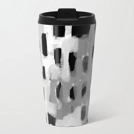 Rexa - abstract minimal modern grey black and white trendy home decor Travel Mug