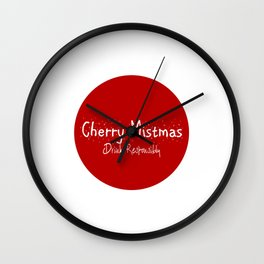 Merry Christmas - Drink Responsibly Wall Clock