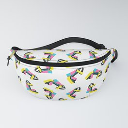 60s 70s Platform Retro Colorblock Shoe Fanny Pack