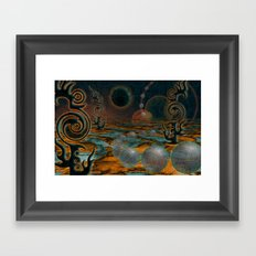 The Black Moon Framed Art Print