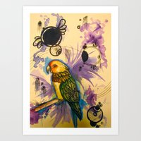 Bird In A Dream Sequence Art Print