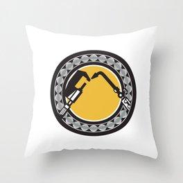 Welding Torch Caliper Ball Bearing Circle Retro Throw Pillow