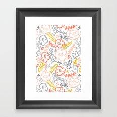 Floral Brush Framed Art Print