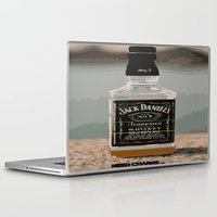 whisky Laptop & iPad Skins featuring Need charge by Denzalman