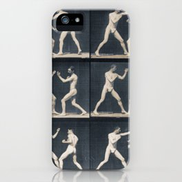 Time Lapse Motion Study Men Kick Boxing iPhone Case