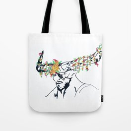 The Iron Bull Flower Crown Tote Bag