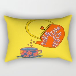 Take Time For Tea Rectangular Pillow