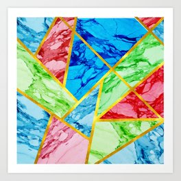 Abstract Marble-Color Burn Art Print