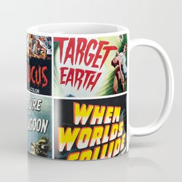 50s Sci-Fi Movie Poster Collage #1 Coffee Mug