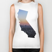 california Biker Tanks featuring California by jamester42