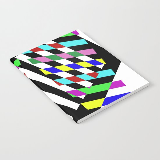 Lost Dimension - Abstract 3D style, multicoloured, geometric artwork Notebook