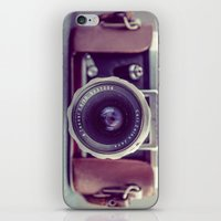 vintage camera iPhone & iPod Skins featuring Vintage Camera by Juste Pixx Photography