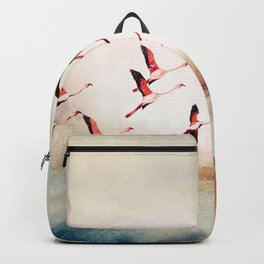 Flock of Flamingos Backpack