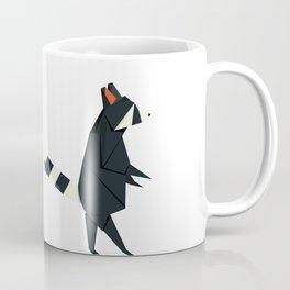 Racсoon Origami Coffee Mug