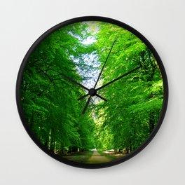 Forest outside Copenhagen Wall Clock