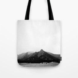 Flatirons in Grey Tote Bag
