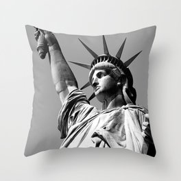 Miss Liberty Throw Pillow