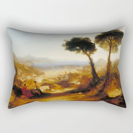 "J.M.W. Turner ""The Bay of Baiae, with Apollo and the Sibyl"" Rectangular Pillow"