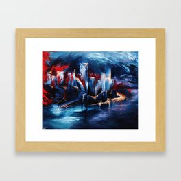 """City Lights"" Painting Framed Art Print"