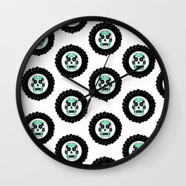 Modern Sugar Skull Pattern Wall Clock