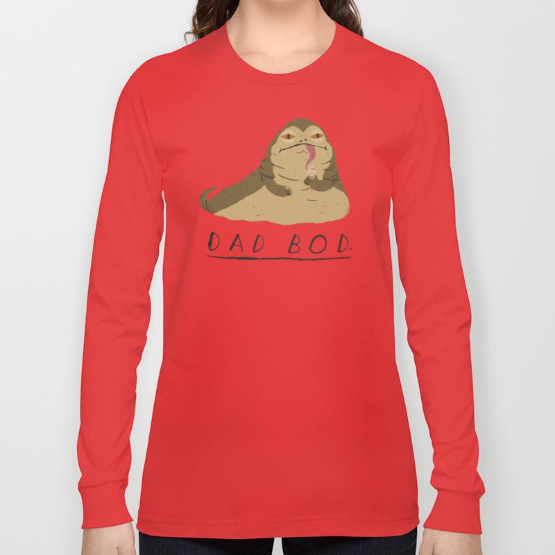eddd271b dad bod Long Sleeve T-shirt by louisroskosch | Society6