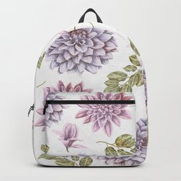 Lavender Rose Garden Floral Pattern Backpack
