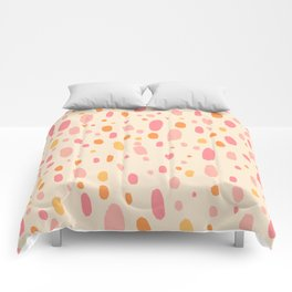 Besotted & Spotted - Warm Colors Comforters