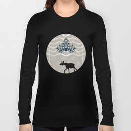 A Moose finds home Long Sleeve T-shirt