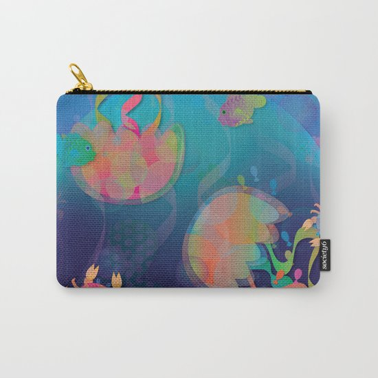 Neon Underwater Party Carry-All Pouch