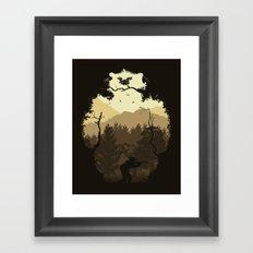 Hunting Season - Brown Framed Art Print