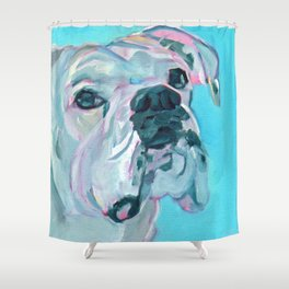 Bella the White Boxer Girl Shower Curtain