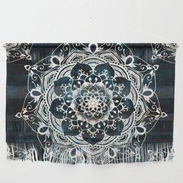 Glowing Spirit Mandala Blue White Wall Hanging