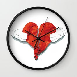 KAWS Heart Wall Clock