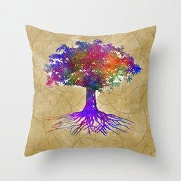 Tree Of Life Batik Print Throw Pillow