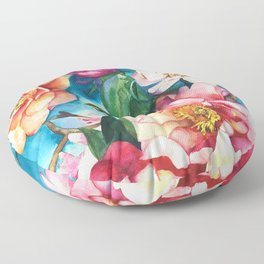 Tropical Floral I Floor Pillow