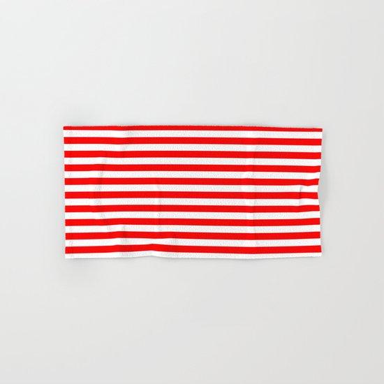 Horizontal Stripes (Red/White) Hand & Bath Towel