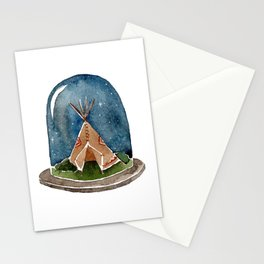 Terrarium teepee Stationery Cards