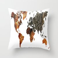 tree rings Throw Pillows featuring Tree Rings  by VRose