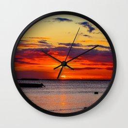 Boat Silhouette Wall Clock