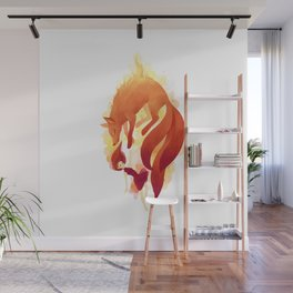 Fire Fox Wall Mural