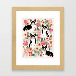 Welsh Corgi tri colored cardigan corgi dog breed must have corgi gifts for dog person pet friendly Framed Art Print
