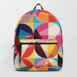 Beautiful colors Geometry, geometric abstract triangles circles squares Backpack